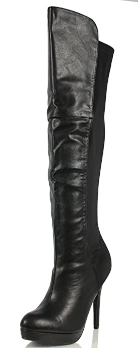 Amazon.com | Delicious Women's Venga Faux Leather Over The Knee ...