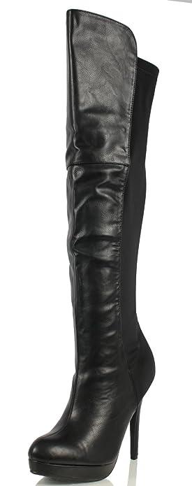 Amazon.com | Delicious Women's Venga Faux Leather Over The Knee ...