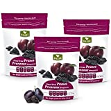Basse Dried Pitted Prunes, California Dried Plums 3 Resealable Bags (1 Pound each)
