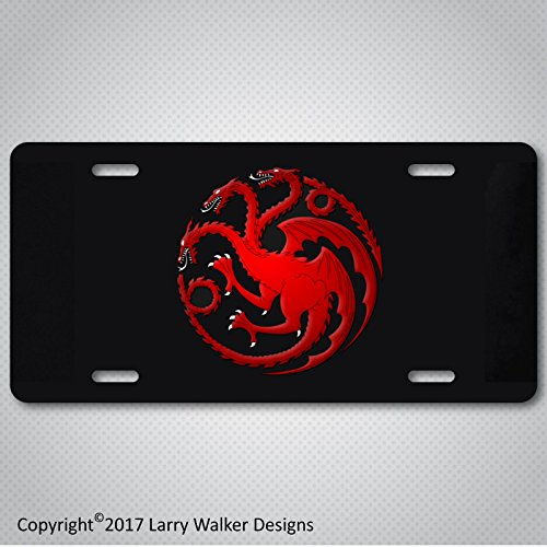 HOUSE TARGARYEN Game of Thrones Aluminum License Plate Tag New (House Stark License Plate)