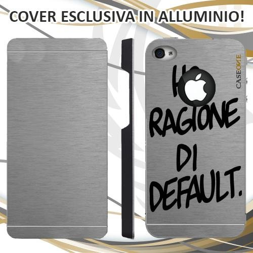 CUSTODIA COVER CASE HO RAGIONE PER IPHONE 4S ALLUMINIO TRASPARENTE