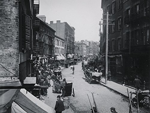 Mulberry Bend, New York, 1890, 1800's New York City Scene, N