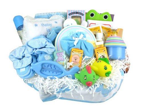 Everything Bath Time Gift Basket Blue