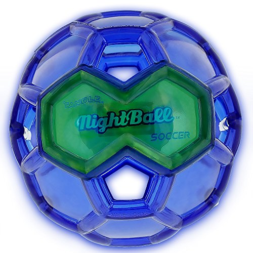 Tangle Sport Matrix Airless NightBall Soccer Ball - Ultra Durable, No Pump, Floats in Water, Light Up Soccer Ball - 6.5L