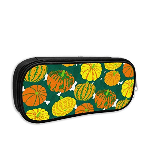 Pencil Case - Pumpkin Pattern Halloween Pencil Pouch Stationery Organizer Multifunction Cosmetic Makeup Bag Perfect Holder for Pencils and Pens ()
