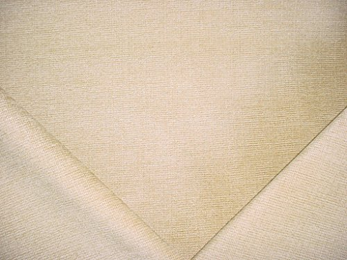 Buttercream Accent (100H12 - Butter Cream Woven Smooth Strie Chenille Designer Upholstery Drapery Fabric - By the Yard)