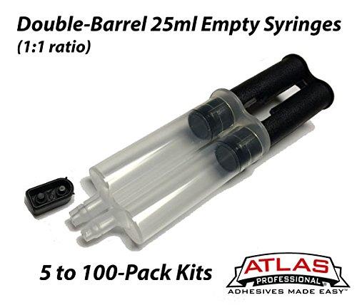 25ml Empty Double-Barrel Cartridge/Syringe with Plunger (1:1 mix ratio) (Syringe Barrel)