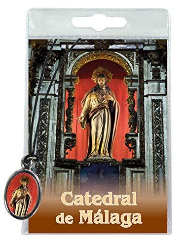 Ferrari & Arrighetti Medalla Catedral de Malaga con cordón y oración en España: Amazon.es: Hogar