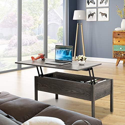 JAXSUNNY Lift Top Coffee Table Modern Living Room End Table