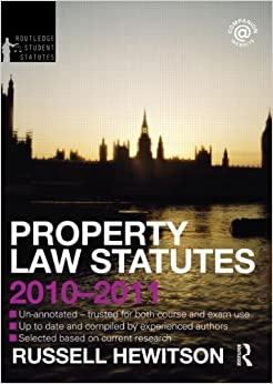 Property Law Statutes 2010-2011 (Routledge Student Statutes)