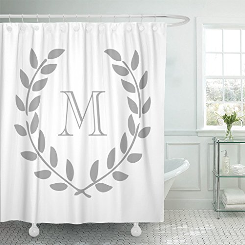 (Accrocn Waterproof Shower Curtain Curtains Fabric Decors Monogram Extra Long 72x96 Inches Decorative Bathroom Odorless Eco Friendly)