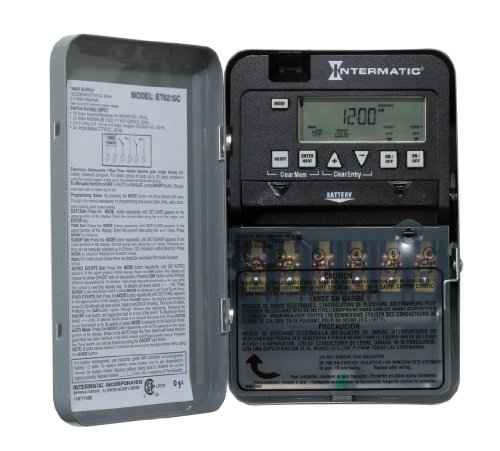 Intermatic ET1125C 24-Hour 30-Amp Electronic Time Switch, 120-277 VAC, NEMA ()