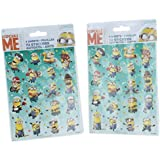 Despicable Me Minions Stickers 8 Sheets 144 Stickers Party Supplies 2 packs