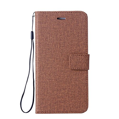 134 Cotton Cover (iPhone SE 5SE 5 5S Cotton Fabric Material Case, Forhouse Magnetic Closure Wallet case Shockproof Flip Stable Kickstand Protective Cover with Card Slot case for iPhone SE 5SE 5 5S (Brown))