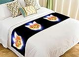 NNBZ Custom Animals Kitten Cat Bed Runner Cotton Bedding Scarf Bedding Decor 20x95 inches