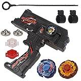 Bey Battling Blades Game Metal Fusion Set, Duotron Dual Launcher / Ripper, Black WBBA Version