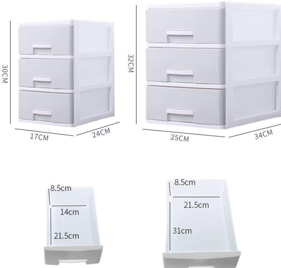 Size : Medium File cabinet Comfortable Pull-in Design Cabinet Office Document Different Drawers Slide Rail Drawer Items Smooth Plastic Office Supplies