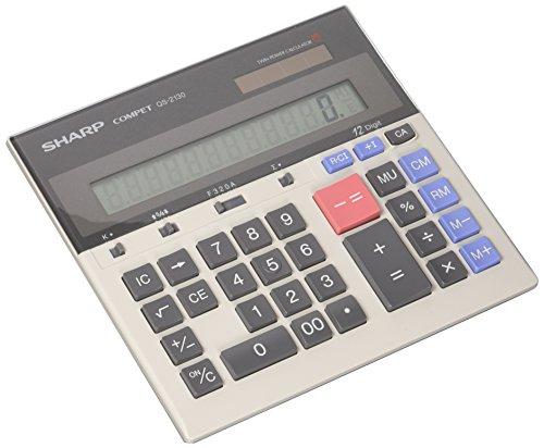 """Sharp 12-Dgt Desktop Calculator,Dual Power,7-1/2""""x6-7/8""""x2-2"""
