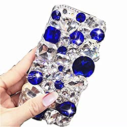 Clear & Blue Rhinestone With TPU Case for Oppo