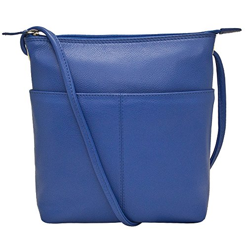 i Sac Crossbody Handbag with RFID Lining (Cobalt) ()