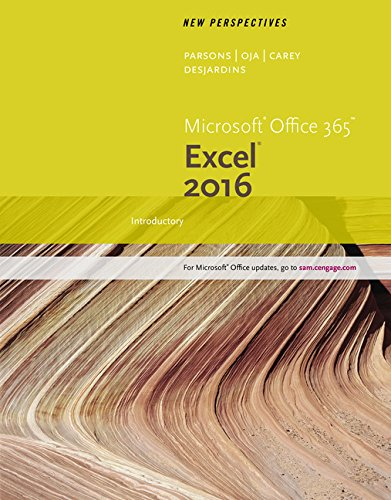 New Perspectives Microsoft Office 365 & Excel 2016: Introductory by Cengage Learning