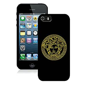 Popular Designed Phone Case For iPhone 5S With VERSACE LOGO 1 Black Phone Case