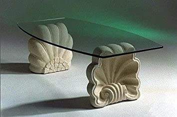 Marmor Couchtisch Im Wohnzimmer Mit Glas Modell Sedna Cm 120 X 60