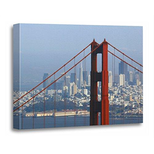 TORASS Canvas Wall Art Print Architecture San Francisco Seen Trough Golden Bridge Travel Artwork for Home Decor 16