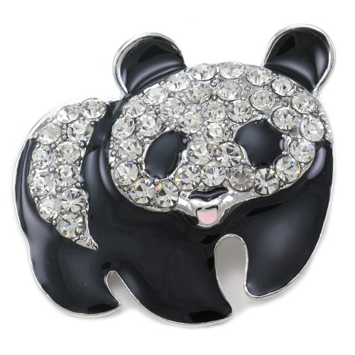 Soulbreezecollection Black & White Panda Pin Bear Brooch Charm Animal Lovers for Gift for Girlfriend Friend Women Mom Fashion Jewelry