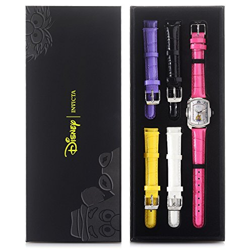 New Womens Invicta 25891 Miss Piggy Baby Lupah w/5-Piece Leather Strap Set - Invicta Baby Lupah