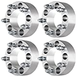 ECCPP Wheel Spacers Adapters 4PCS 2'' 5 x 4.5 to 5x4.5 Bolt On 1/2'' x 20 for Ford Mustang Ranger Crown Victoria Explorer Mazda Jeep Cherokee Wrangler Mercury Grand Marquis(Below Description)