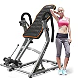 Inversion Equipment Adjustable Folding Heavy Duty Inversion Therapy Table with Comfort Foam Back