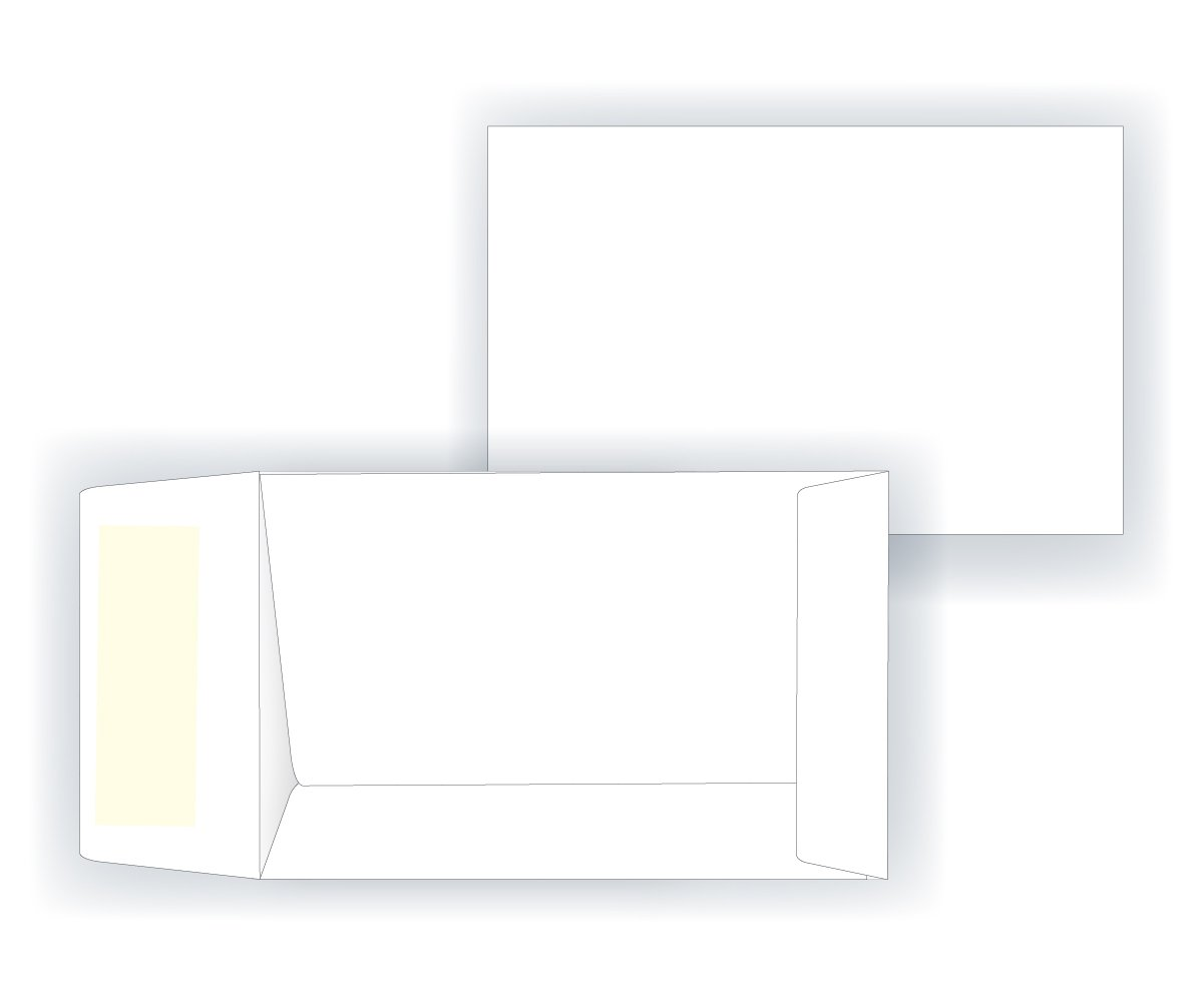 #1 Coin Envelope - Open End - 24# White (2 1/4 x 3 1/2) - Small Envelope Series (Box of 1000)