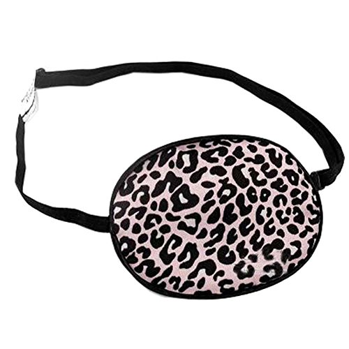 Pink Leopard Print Adult Silk Sleep Eye Patch For Lazy Eye Amblyopia Treatment