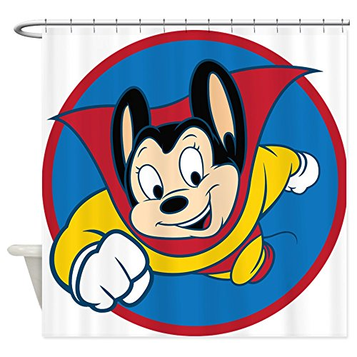 Mighty Mouse Cartoon Shower Curtain