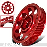 Rxmotor Honda Civic Acura Rsx K20 K24 Performance Motor CNC Crank Shaft Pulley Wheel Kit Red