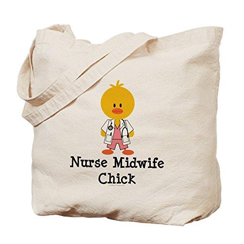 CafePress–Enfermera partera pollito–Gamuza de bolsa de lona bolsa, bolsa de la compra