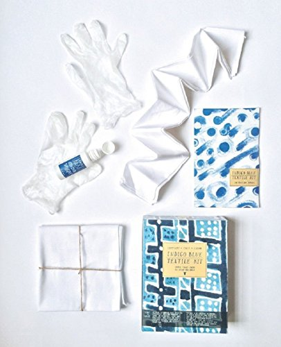Crafts For Adults - Tie Dye Kit - Indigo Blue Permanent Liquid Color with Drip-less Applicator - Includes Blank Scarf