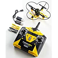 Remote Control X-Drone Quad-copter with 5.5 sq. Guard and Video Camera