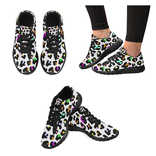 Cheap InterestPrint Animal print of leopard with colors Women's Running shoes Casual Lightweight Athletic Sneakers US size 6-15
