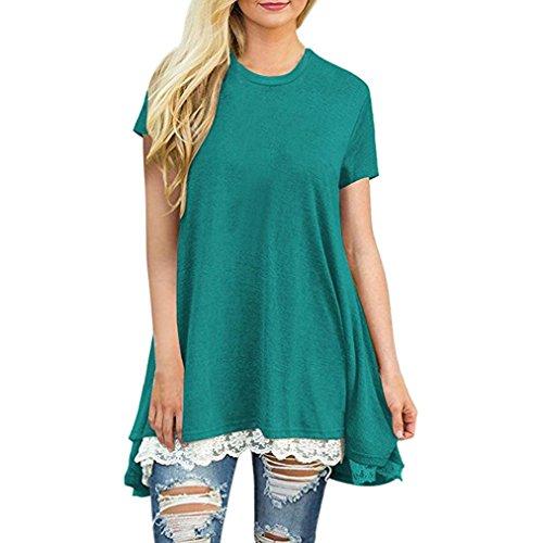 Corte Collo MML Donna Maniche Camicia Tunica Large Green a U EUwqfYw4