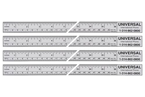 Universal Adhesive Tape Measure Ruler - Adhesive Measuring Tapes with Sticky Back - Easy to Read, Left-to-Right Rulers with Adhesive Backing That Sticks to Most Surfaces (36 Inches)