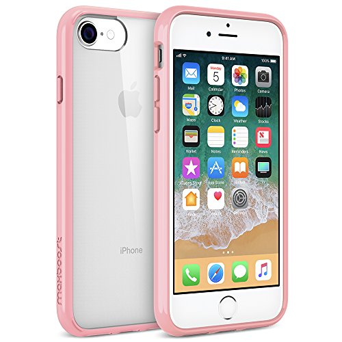 Maxboost HyperPro iPhone 8 7 Case [GXD Gel Drop Protection] Heavy Duty Hybrid Cover for Apple iPhone 8, iPhone 7, iPhone 6s 6 Case Scratch Resistant / Reinforced TPU Bumper/Hard PC Back -Pink/Clear