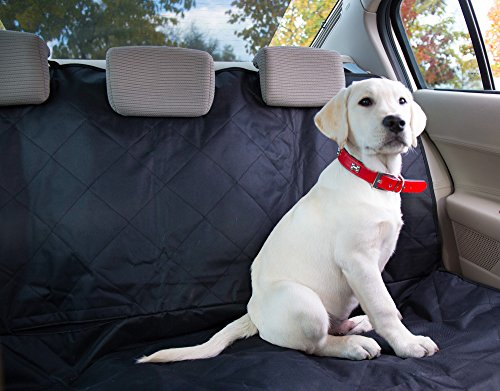 Dog Seat Cover Bundle with Seat Anchors & Non Slip Back – Ideal Backseat Mud and Waterproof protection for Car and Suv – Pet Hammock Convertible