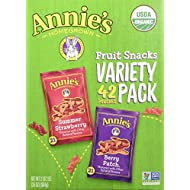 Annie's Homegrown Homegrown Fruit Snacks Variety Pack Net Wt (42 Pack 0.8 Oz Net Wt 34 Oz )