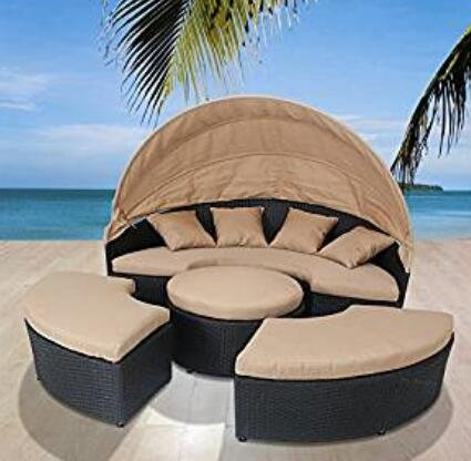 Bellagio 4-piece Outdoor Daybed Sectional Set (Coffee)