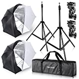 "Neewer Studio Digital Flash Mount Two Removable Black Cover Umbrella Kit 33""/84cm for Canon 430EX II,580EX II,Nikon SB600 SB800,Yongnuo YN 560,YN 565,Neewer TT560,TT680"