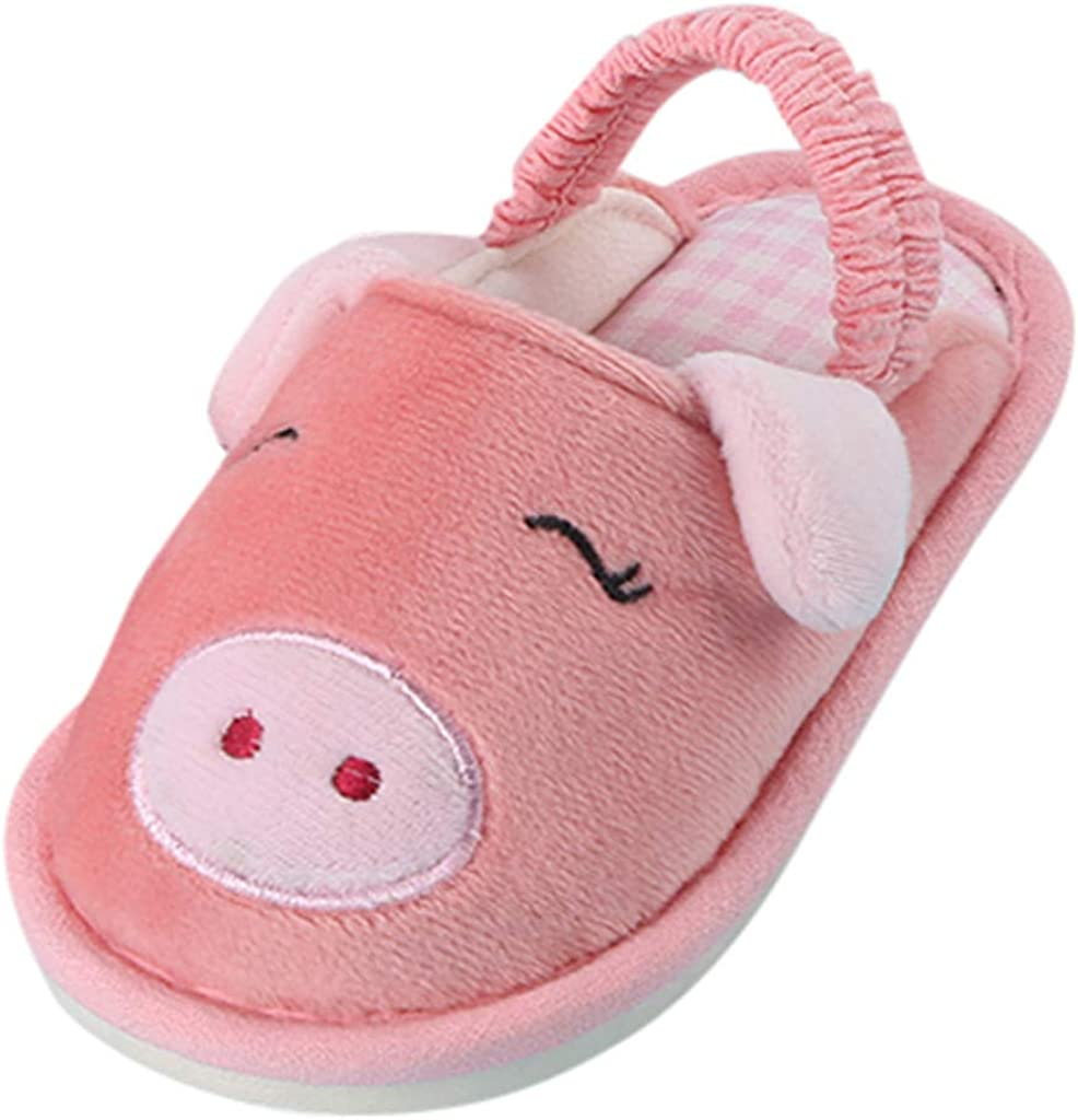 Voberry Baby Boys Girls Unisex Cartoon Pig Shoes Warm Home Slippers Slides
