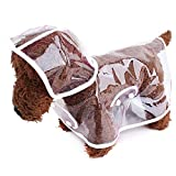 suyi Transparent Pet Dog Raincoat Waterproof Hoodie Rain Cover Jackets Coats,for Puppy Medium Pets Rainwear Outdoor Size XS S M L