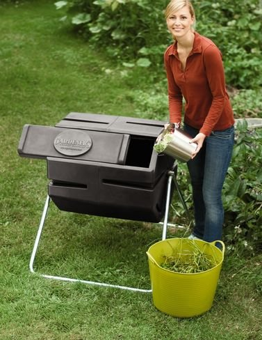Recycled Plastic Compost Tumbler by Gardener's Supply Company